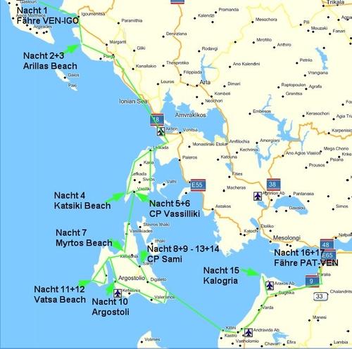 karte kefalonia griechenland Datenfront IT Consulting # Webdesign :: 200906 Griechenland